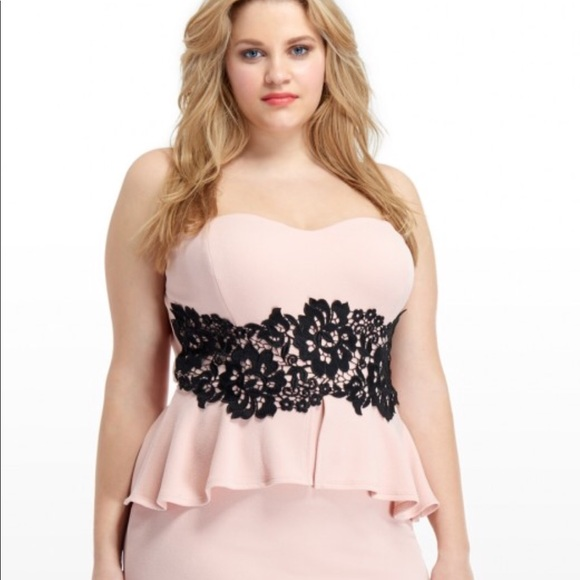 Plus Size Pink Evening Dress